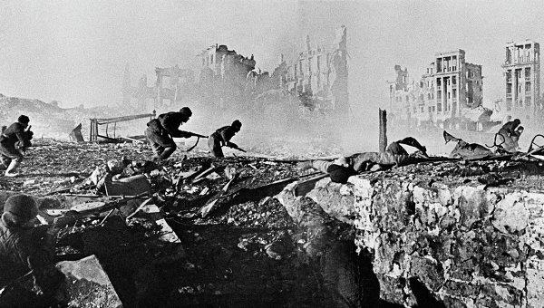 Один из уличных боёв Сталинградской битвы